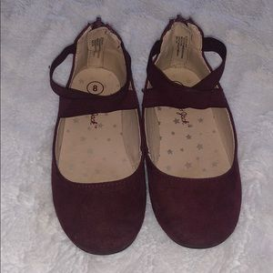 Like New ADORABLE Maroon Suede Ballet Flats
